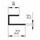 Стартовый П-профиль 14х22 мм (Ревик)