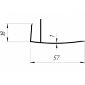 F-профиль 18х57 мм. (Экстра)